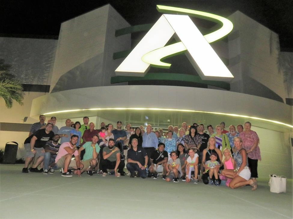 The social event this year was held at Andretti Racing